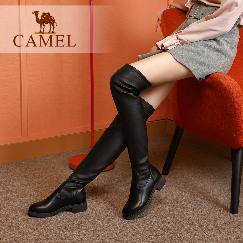 Camel women's shoes 2018 winter new boots fashion warm over the knee boots women's long boots with thin boots