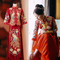 Xiuhe clothing bride 2021 New Wedding Toast clothing Chinese style wedding dress Chinese style wedding dress summer show and