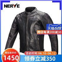 NERVE motorcycle clothes vintage heavy motorcycle leather jacket knight riding clothing mens four seasons windproof summer tide