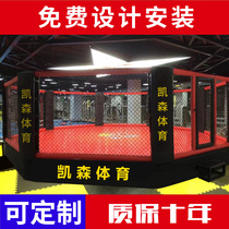 MMA Fight Match training octagonal cage six angle iron cage fighting fight boxing scatter ring boxing table