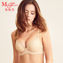 Manifen shopping mall lace together with bra, breast cream, adjustable bra, sexy bra, sexy bra, small chest bra.