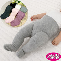 Baby pantyhose spring and Autumn Winter big PP girls children cotton thin Siamese plus thick female baby leggings