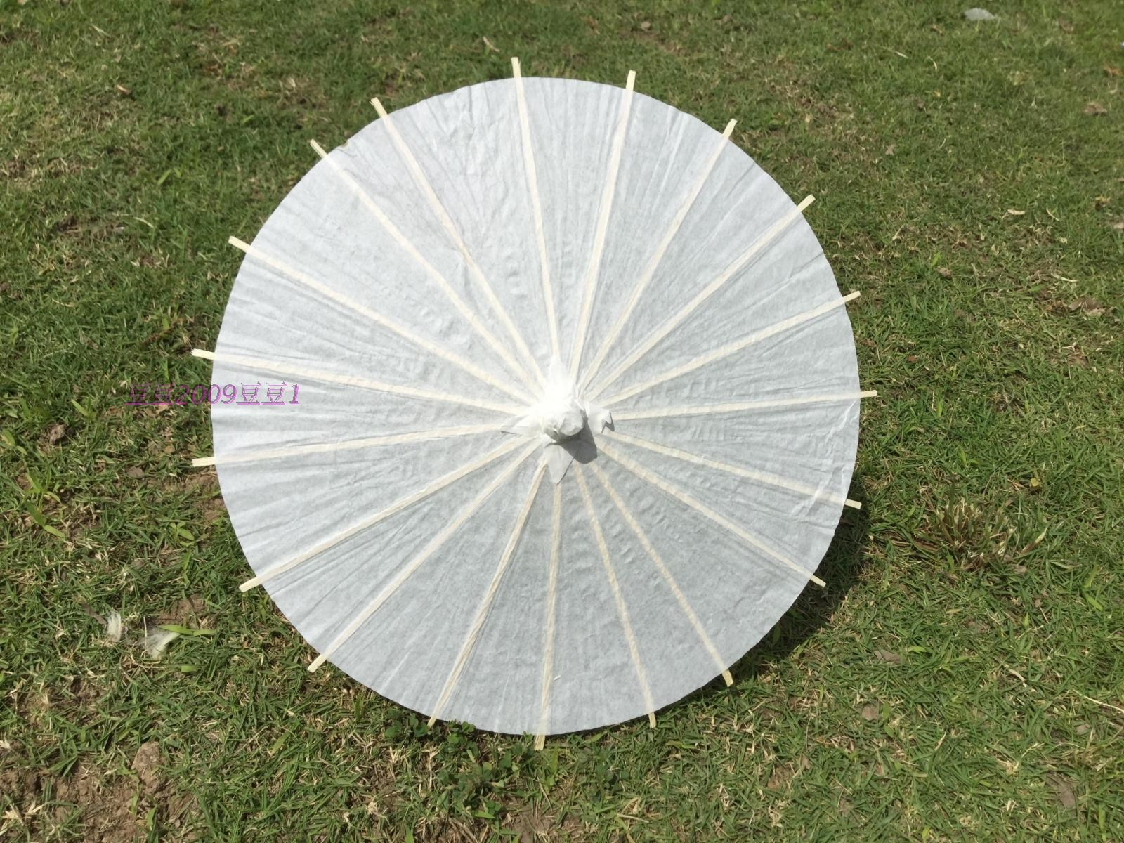 Oil-paper umbrella self-made antique 60cm white antique oil-paper umbrella painting children's umbrella elegant hands-on white paper folding table