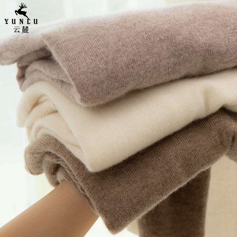 Semi-high-necked cashmere sweater womens short 2020 autumn winter new solid-color loose knit sweater cashmere sweater