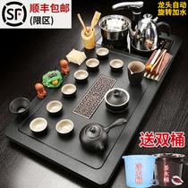 茶盘茶台全自动电磁炉大号功夫茶具套装家用客厅简约整套陶瓷紫砂