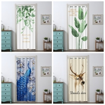 Free punch curtain winter warm wind partition curtain shelter wind cloth bedroom home kitchen bathroom curtain