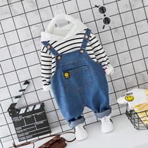 Детская одежда мальчики и девочки детские джинсовые брюки костюм 2020 новый ребенок корейская версия весны и осени ветер маленький ребенок прилив