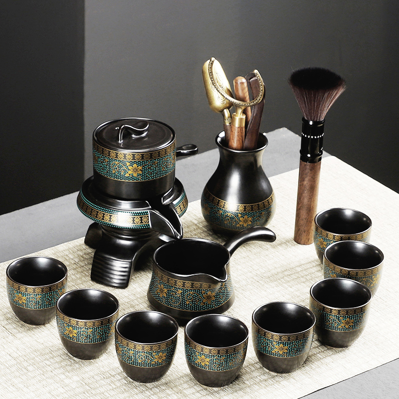 Kung Fu Tea Set Home Living Room Office will guest lazy people make teapots small sets of teacup automatic tea-making artifacts