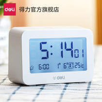 Powerful multi-functional electronic alarm students use 牀 head nightlight bedroom children smart temperature volume