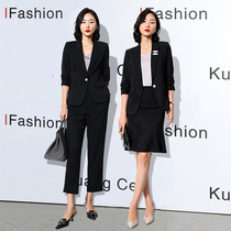 Suit suit womens summer thin section 2021 new fashion temperament Sales department front desk manager lawyer professional small suit