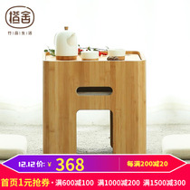 Orange house creative tatami coffee table bamboo modern minimalist multi-functional low table Japanese bay window small square table a few