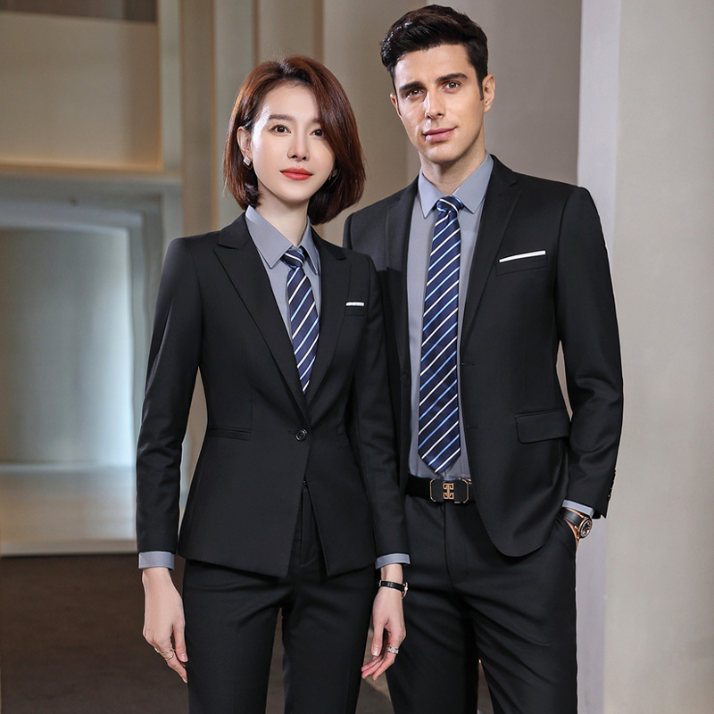 High-end new men and women slim professional business custom 4S shop suit sales department suit Bank manager work clothes