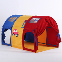 Childrens bed tent high and low bed curtain bed artifact indoor game House baby independent space reading angle