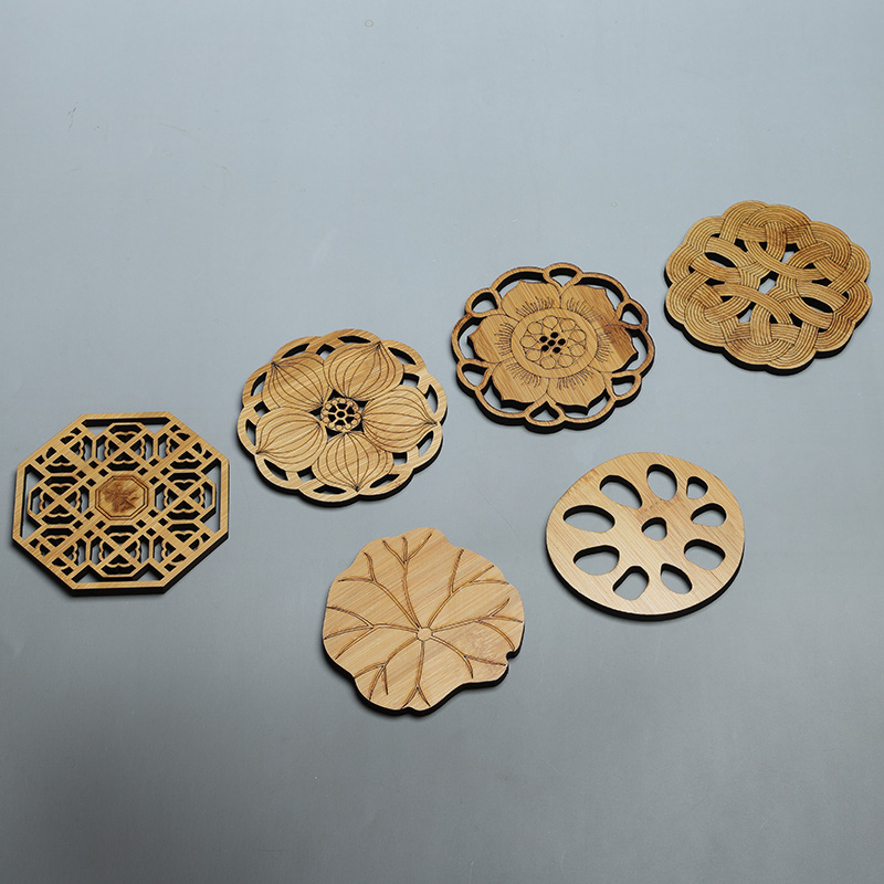 Miracle Kung Fu tea accessories tea ceremony ebony teacum cup mat teacum rack bamboo wood Nan cup tea mat home set