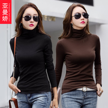 Two 59-yuan bottomed shirts with high collar and tight body clothes for autumn and winter 2019 new long-sleeved cotton T-shirts