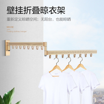 Four seasons Mu song wall hanging clothes hanger Yang Yu home stack drying桿 indoor retractable cool clothes are simple artifacts