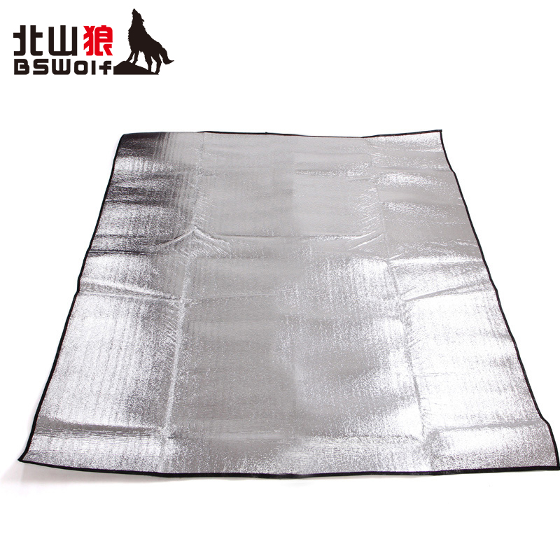 Beishan Wolf 200x200 Double-sided Aluminum Foil Moisture-proof Pad Picnic Pad Thickened Ultra-light Outdoor Cloth Pad Mat