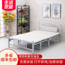 Folding bed sheets bed double bed office nap lunch break folding bed companion bed home Board bed simple bed