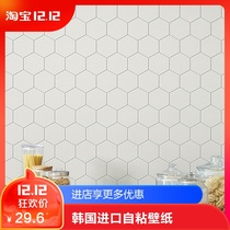 Korea NET red Kitchen self-affixed wallpaper waterproof oil self-adhesive wallpaper bathroom bathroom thickening imitation brick instant sticker