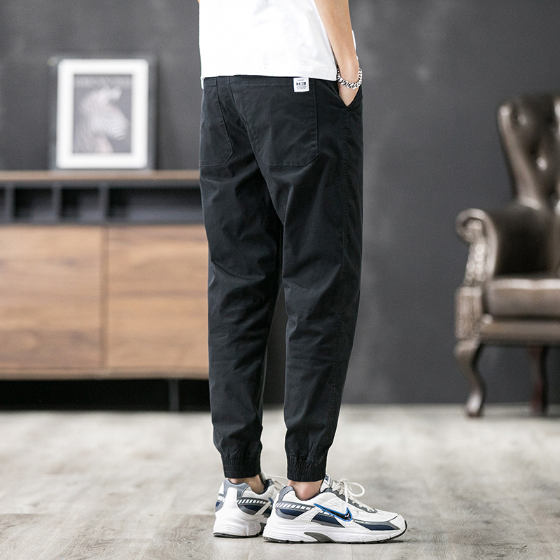 Mens spring and autumn pants work pants mens loose straight thin pants tide brand hundred with small feet casual pants mens tn