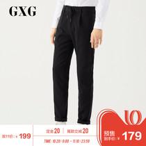 (Pre) GXG mens 2018 Winter hot fashion mens Korean trend black casual trousers