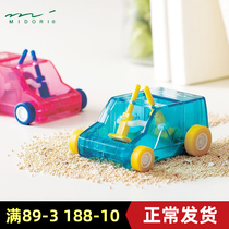 Normal delivery Japan midori desktop mini creative dust cleaning trolley pencil rubber shredder Duster cute