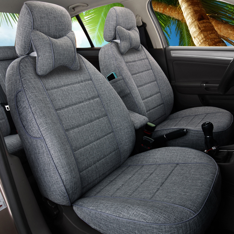Car seat cover all-inclusive linen seat cover Forslang Yibao to fast-paced Corolla Xuanyi four-season universal cushion