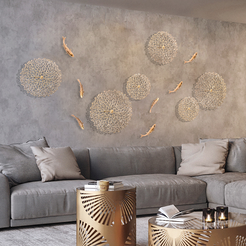 Qiju Liangpin Light Luxury Wind Wall Decoration TV Sofa Background Wall Decoration Creative Wall Metal Wall Decoration Y
