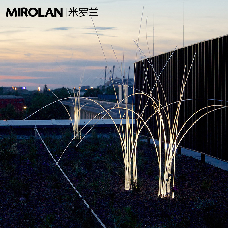 Miloran Courtyard Lamp Outdoor Lamp Waterproof Outdoor Lawn Lamp Landscape Lamp Garden Villa Lamp Reed Lamp