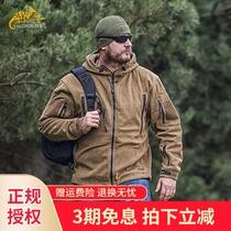Helikenhelikon scratched the velvet mens patriot warm and thick hooded zipper jacket tactical grab velvet