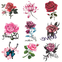 (50 sets) tattoo paste waterproof female durable rose flower butterfly personality small fresh tattoo scar sticker