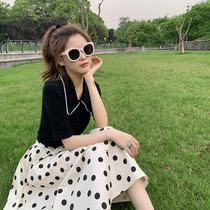 sandro Moscoloni 2021 summer new first love sweet polka dot dress sub-two-piece suit female