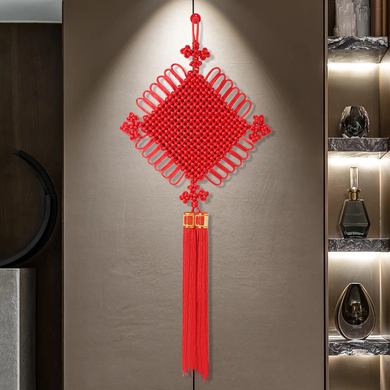 Chinese knot hanging piece Fu word living room large town house feng shui hanging small Xuanguan wall hanging joe move decoration