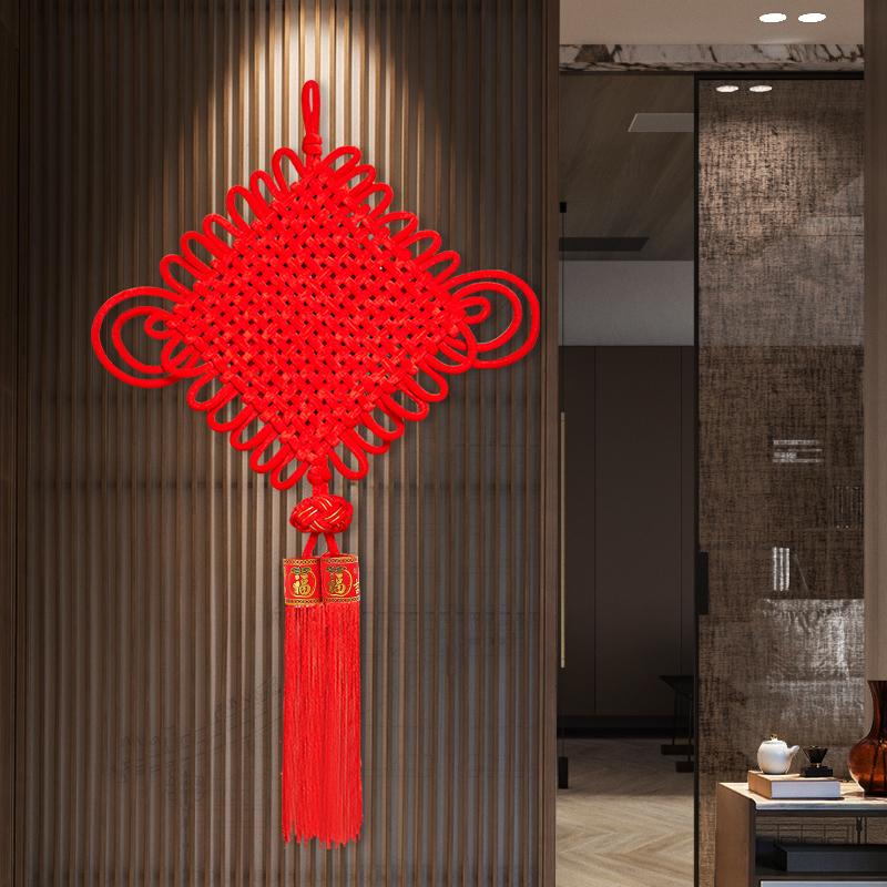 Noeud chinois pendentif salon grand Fukuo Xuanguan maison de ville Peace Festival avec le noeud de coeur petit Joe déplacé à la décoration intérieure nouvelle chambre à coucher