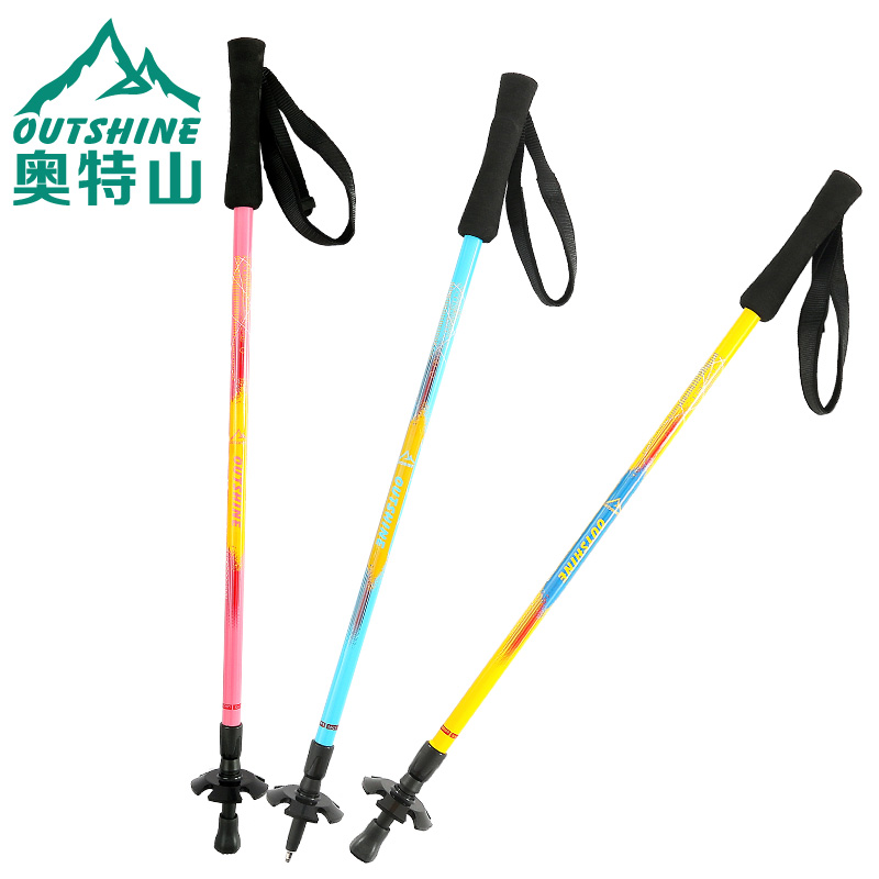 Carbon Ultra-light Folding and Telescopic Aluminum Alloy Cane on Mount Ott