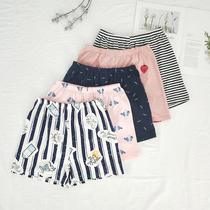 ОК соус весна и осень домашние брюки пижамы дамы летние шорты хлопок домашние шорты свободные тонкие плюс размер можно носить снаружи