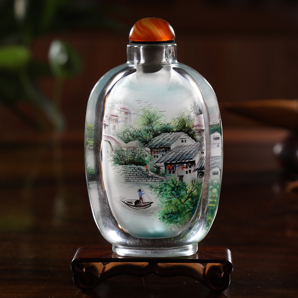 Ingenuity, unique rhyme, Chinese characteristics, crafts, snuff bottle, painting, Chinese characteristics, gifts, foreigners, overseas gifts