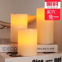 Art Home Simulation wave mouth led electronic paraffin candle lamp wedding Birthday Candlelight Dinner Home Decoration