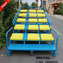 Telescopic referee Stand Gymnasium sports ground outdoor stadium mobile Grandstand 15-seat End Chronograph