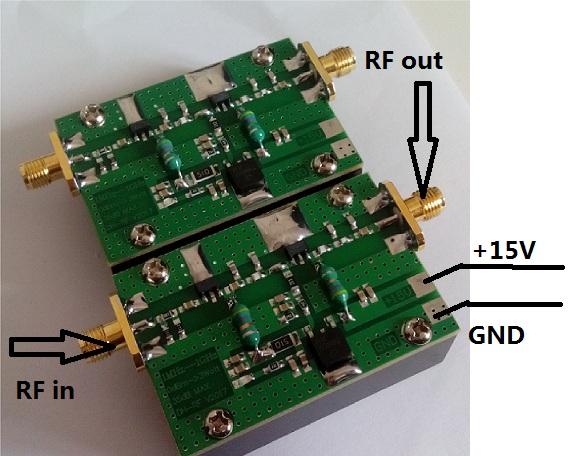 1MHz-1000MHZ 3W RF amplifier HF FM VHF UHF emission broadband RF amplifier