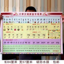 First grade primary school students Chinese phonetic alphabet voice mother rhyme mother overall read syllable classroom layout wall stickers