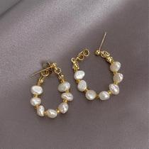 Hong Kong (designer) RVY 2021 new earrings womens simple wild pearl temperament earrings jewelry trend