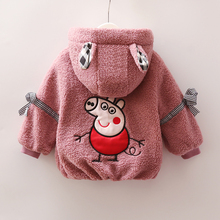 Baby girl coat 2018 new 1-2-3-4 year old Korean version of autumn and winter plus velvet princess princess