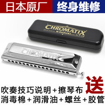 Suzuki Japan Suzuki SCX64 56 48 imported 16-hole semi-scale harmonica novice playing primer beginner