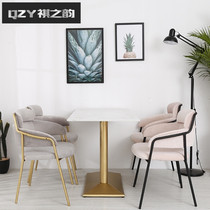 Marble dining Table Nordic simple modern rectangular iron dining table and chair combination small household 4 people 6 people dining table