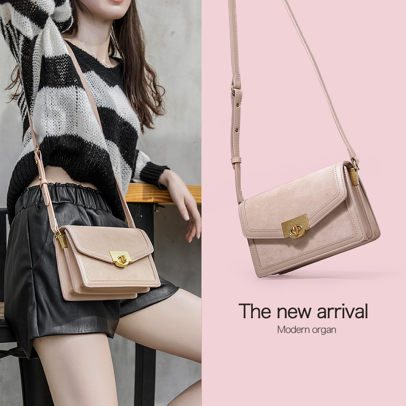 Somay bag female 2018 new autumn and winter texture shoulder bag Korean version of the wild port wind Messenger bag retro small