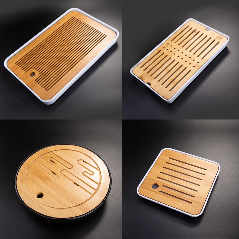 Tianxi tea plate home kung fu tea set tray bamboo tea table tea tray modern simple set leaching plate small sea of tea