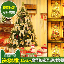 1.8 m pine needle Christmas Tree Set 1.5 2.1 2.4 3 meters ultra-luxurious encryption decorative Christmas decorations