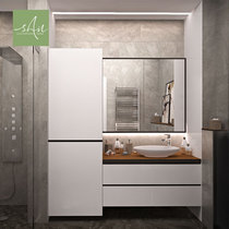 Modern urban minimalist overall Mirror panel combination bathroom cabinet custom industrial style shower cabinet hand wash cabinet