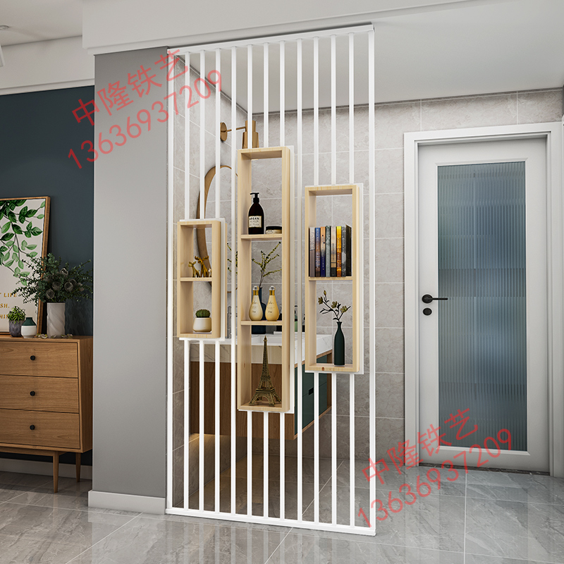 Nordic simple screen partition living room light luxury simple net red into the door Xuanguan washing table modern hollow customization